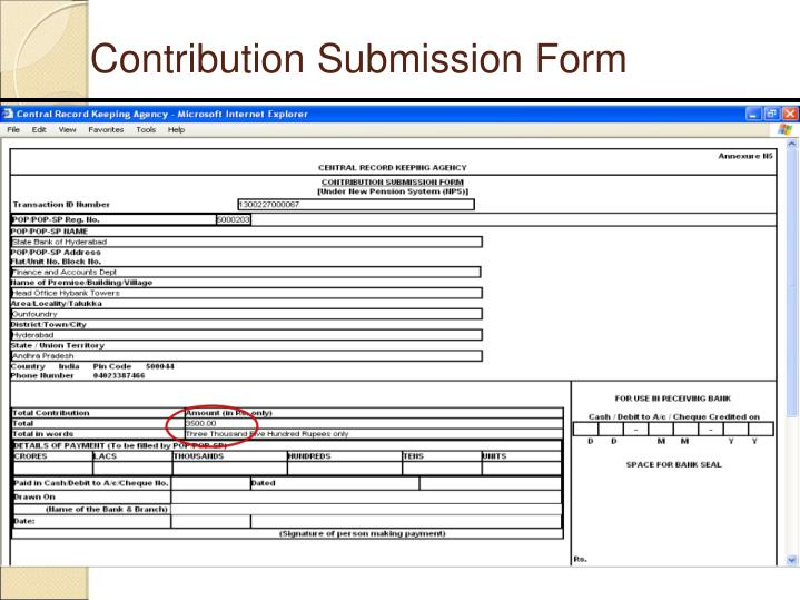 Contribution Submission Form