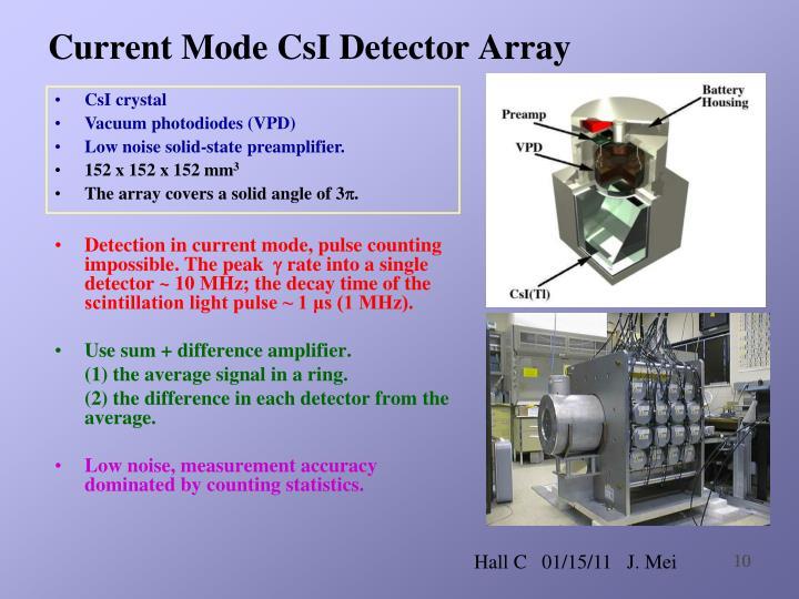 Current Mode CsI Detector Array