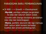paradigma baru pembangunan