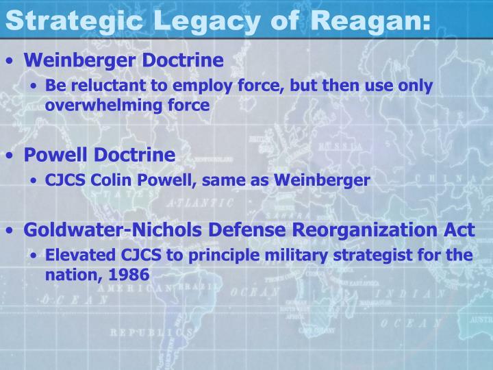 Strategic Legacy of Reagan: