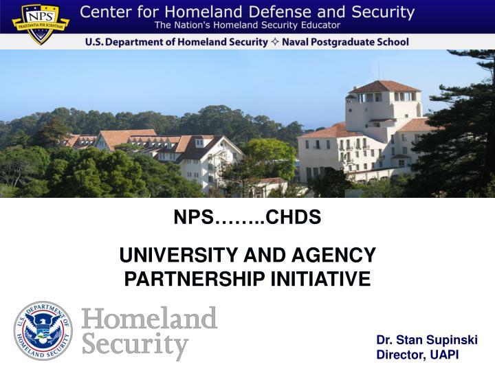 Nps chds university and agency partnership initiative