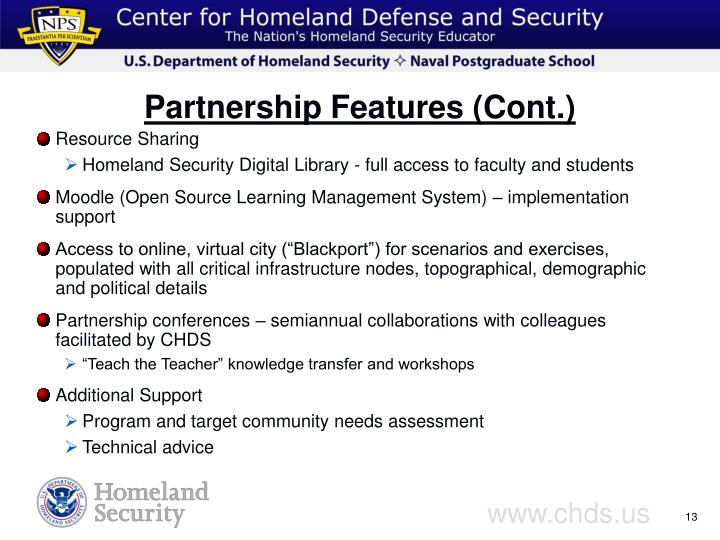 Partnership Features (Cont.)