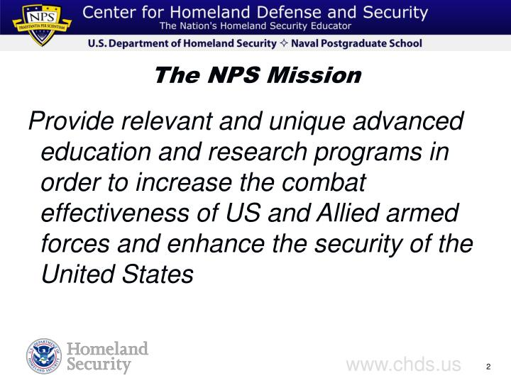 The nps mission