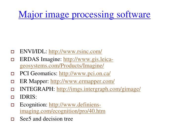 Major image processing software