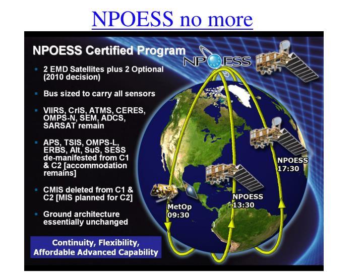 NPOESS no more