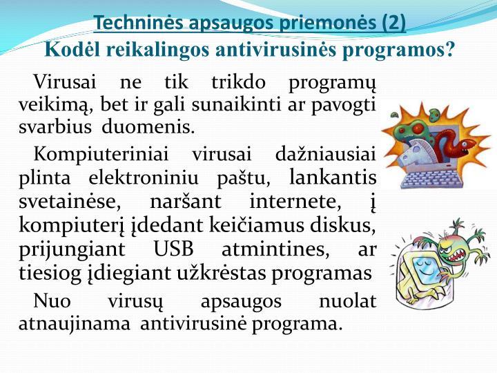 Techninės apsaugos priemonės (2)