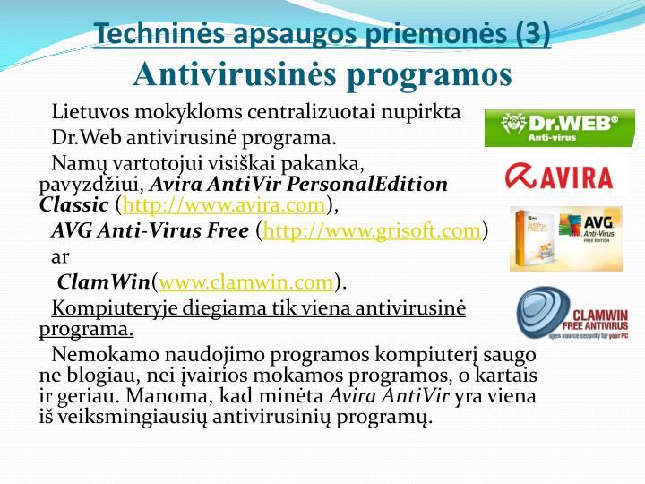 Techninės apsaugos priemonės (3)