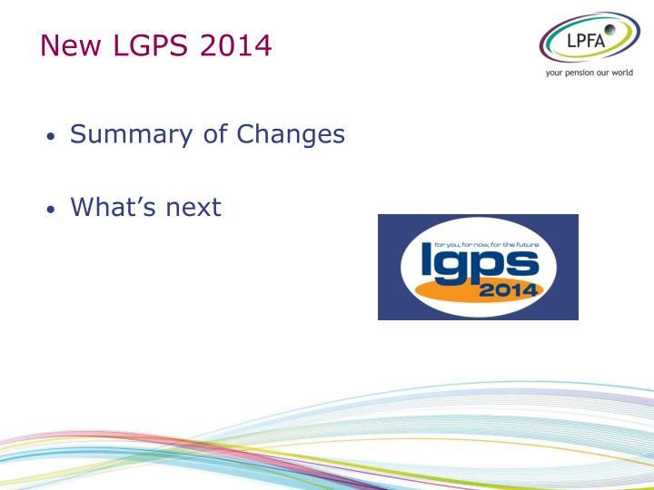 New lgps 2014