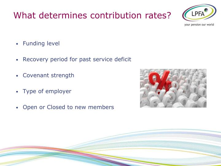 What determines contribution rates?