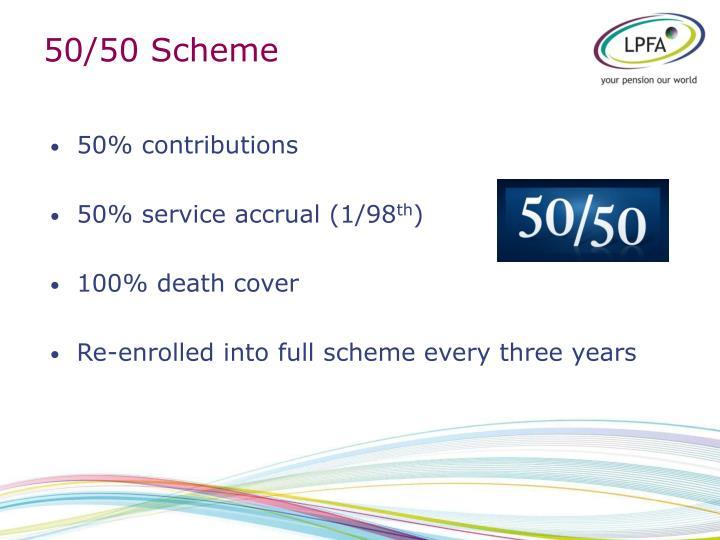 50/50 Scheme