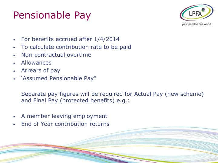 Pensionable Pay