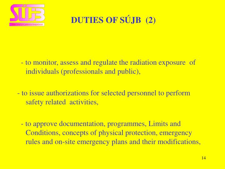 DUTIES OF SÚJB  (2)