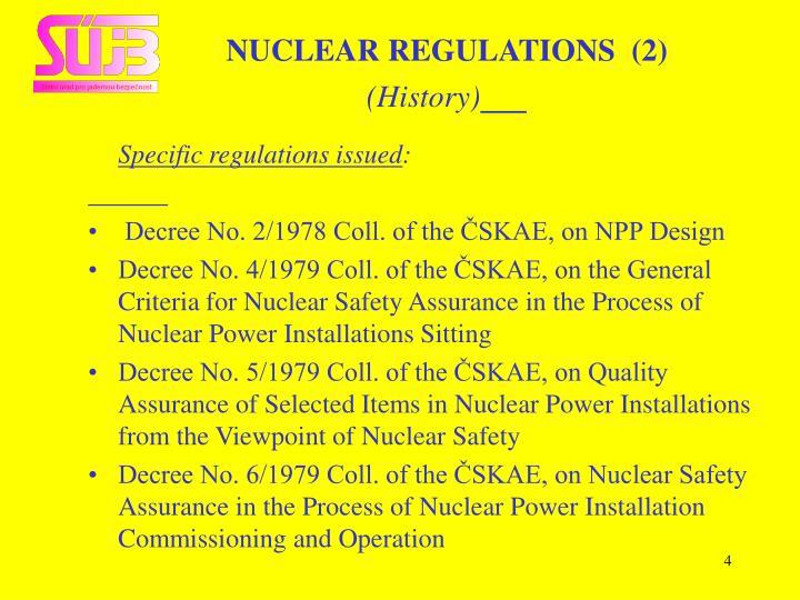 NUCLEAR REGULATIONS  (2)