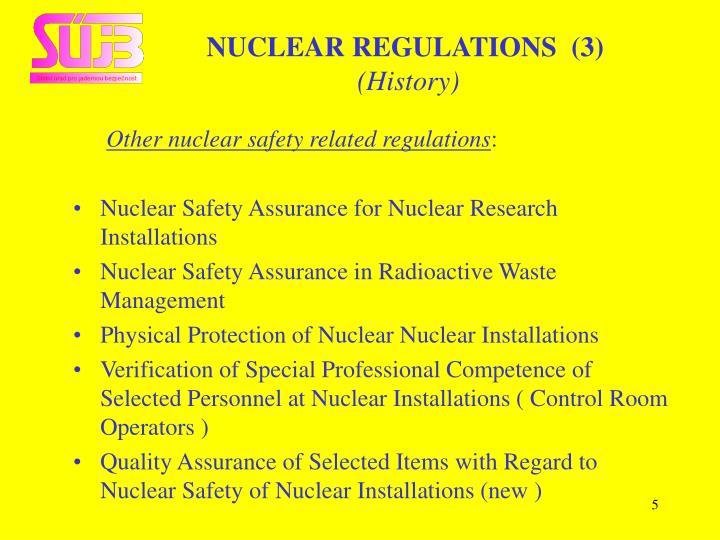 NUCLEAR REGULATIONS  (3)