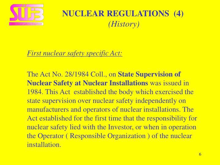 NUCLEAR REGULATIONS  (4)