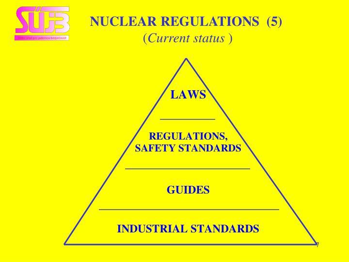 NUCLEAR REGULATIONS  (5)