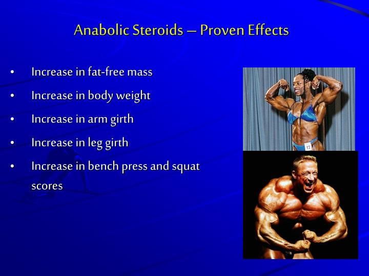 Anabolic Steroids – Proven Effects