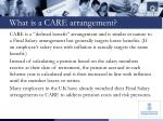 what is a care arrangement