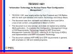 tecdoc 1651 information technology for nuclear power plant configuration management1