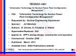 tecdoc 1651 information technology for nuclear power plant configuration management2
