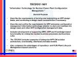 tecdoc 1651 information technology for nuclear power plant configuration management3