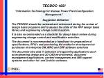 tecdoc 1651 information technology for nuclear power plant configuration management4