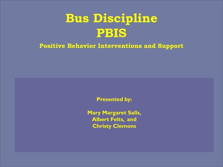 bus discipline pbis n.