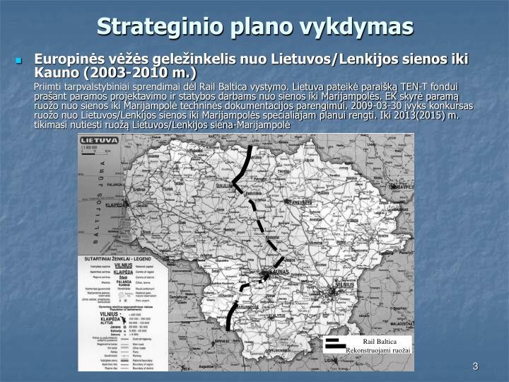 Strateginio plano vykdymas