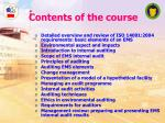 contents of the course1