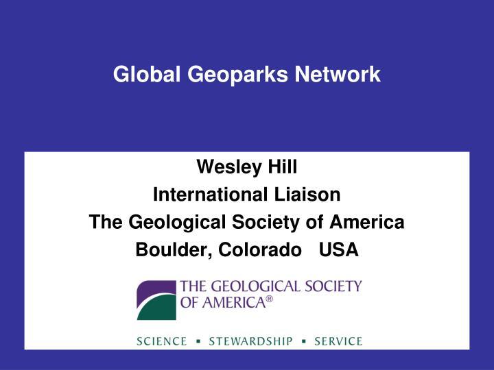 Global geoparks network