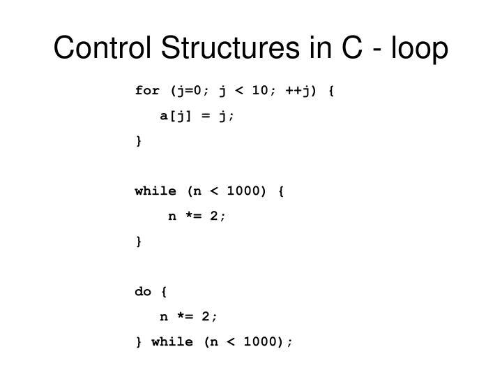 Control Structures in C - loop