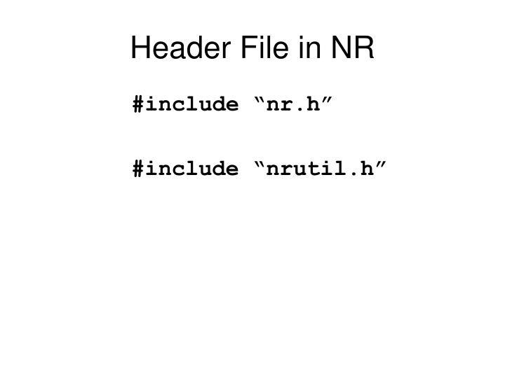 Header File in NR