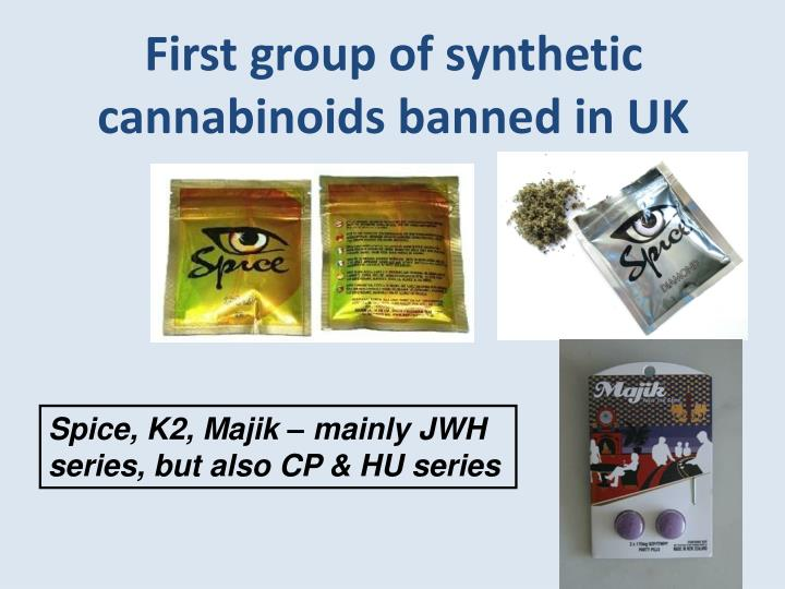 First group of synthetic cannabinoids banned in UK