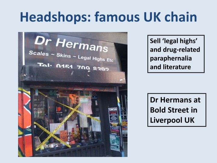 Headshops: famous UK chain