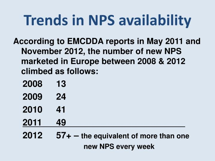 Trends in NPS availability