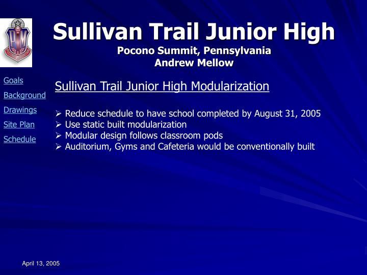 Sullivan Trail Junior High Modularization