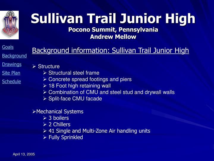 Background information: Sullivan Trail Junior High