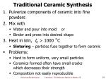 traditional ceramic synthesis