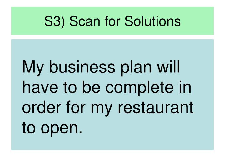 S3) Scan for Solutions