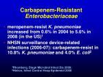 carbapenem resistant enterobacteriaceae2