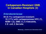 carbapenem resistant gnb in canadian hospitals 3