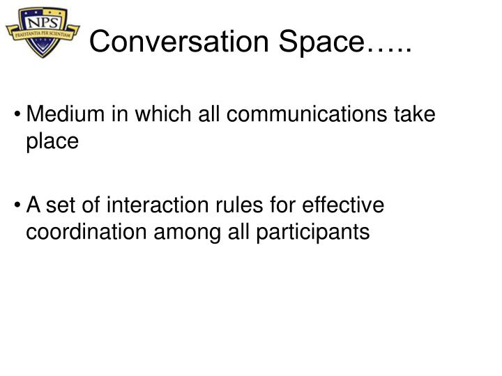 Conversation Space…..