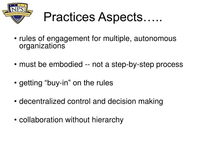 Practices Aspects…..