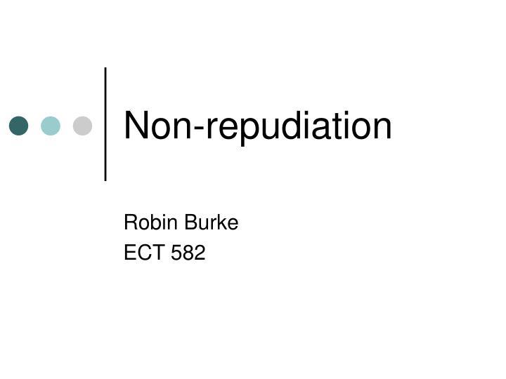 non repudiation n.