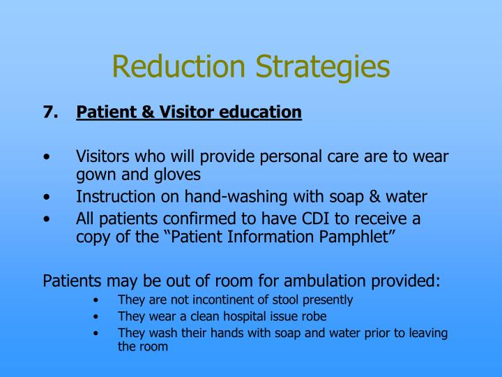 Reduction Strategies