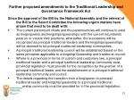 further proposed amendments to the traditional leadership and governance framework act1