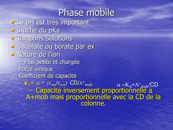 Phase mobile