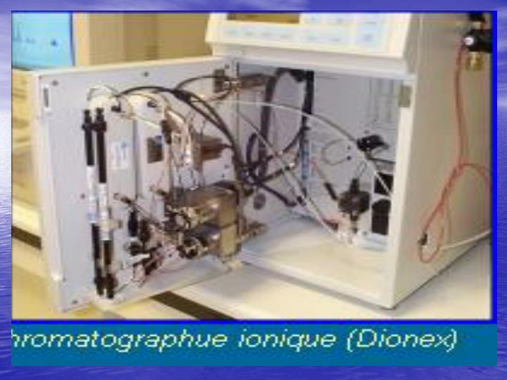 Chromatographies echangeuses d ions