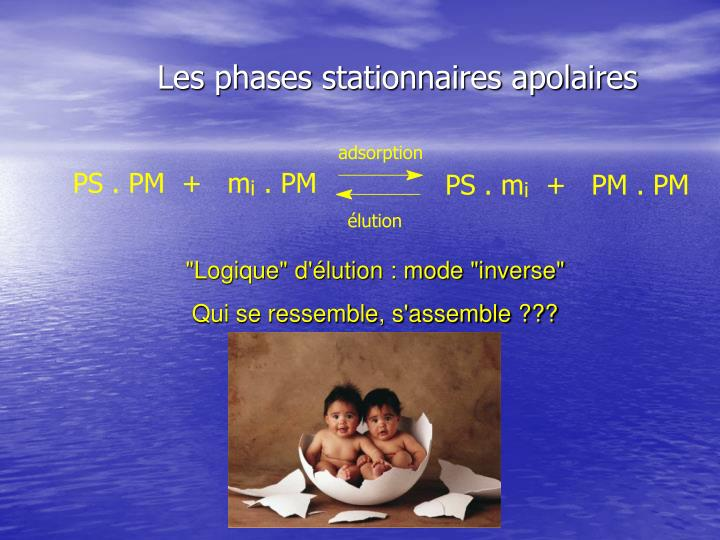 Les phases stationnaires apolaires