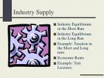 industry supply
